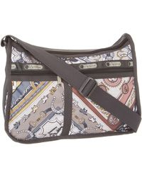 LeSportsac Deluxe Everyday Satchel,scarves,one Size - Gray