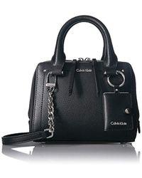 Calvin Klein - Boxy Mercury Leather Crossbody - Lyst