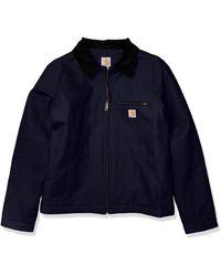 Carhartt Duck Detroit Jacket - Blue