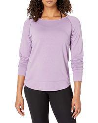 Core 10 Soft French Terry Mesh Trim Long Sleeve Yoga - Purple