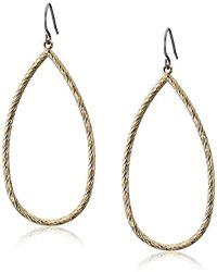 Kensie - Gold-plated Diamond Cut Tear Drop Earrings - Lyst