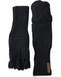 Timberland Pop Over Fingerless Gloves - Black