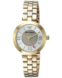 Juicy Couture - 'victoria' Quartz Tone And Gold Plated Dress Watch(model: 1901625) - Lyst