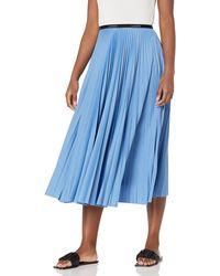 Lacoste Pleated Midi Skirt - Blue