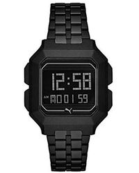 PUMA Remix Black Stainless Steel Digital Watch