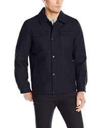 Nautica - Wool Melton Snap Front Jacket - Lyst