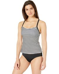 Nike Swim Laser Stripe Racerback Tankini Swimsuit Set - Black