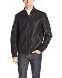 Calvin Klein - Jeans Faux Leather Aviator Jacket - Lyst