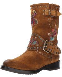 Frye Nat Flower Engineer Boot - Brown