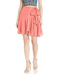 Finders Keepers Rio Side Wrap Short Mini Skirt - Pink