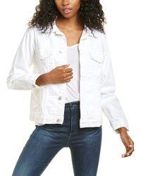DL1961 Clyde Classic Vintage Denim Jacket - White