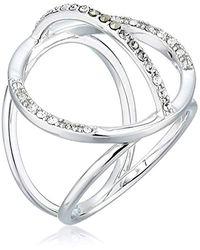 Judith Jack Sterling Silver Tri-arc Ring Size 7 - Metallic