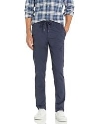 Goodthreads Slim-Fit Washed Chino Drawstring Pant Casual-Pants - Blu