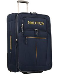 Nautica Carry-on Expandable Spinner Luggage - Blue