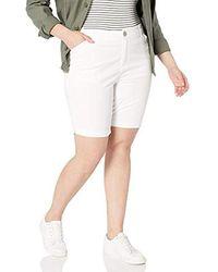 Lee Jeans Petite Regular Fit Chino Bermuda Short - White