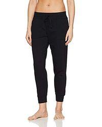 Mae Amazon Brand - Loungewear Wide Waist Jogger Pant - Black