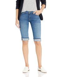 Hudson Jeans Amelia Cuffed Knee Jean Short - Blue