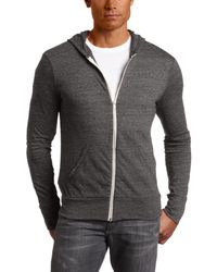 Alternative Apparel - Eco Zip Hoodie Sweatshirt - Lyst