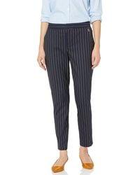 Tommy Hilfiger Elastic Waist Straight Trouser Pant - Blue
