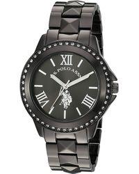 U.S. POLO ASSN. Quartz Watch With Alloy Strap, Black, 17.6 (model: Usc40082)