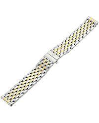 Michele Ms16dm285048 Deco 16 16mm Stainless Steel Two Tone Watch Bracelet - Metallic