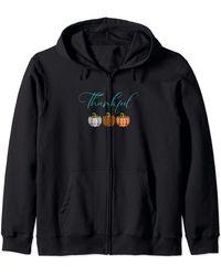 Ash Fall Plaid Pumpkin Thankful Women - Black