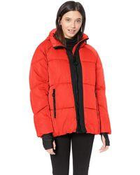 Steve Madden Nylon Puffer Jacket - Red