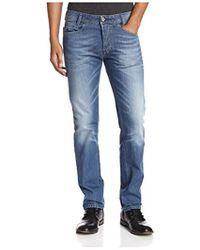 2513a881 DIESEL Buster 0831D Regular-Fit Tapered Jeans - For Men in Blue for Men -  Lyst