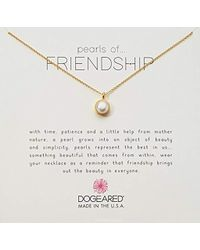 Dogeared - Gold Bezel Pearls Of Friendship Chain Necklace - Lyst