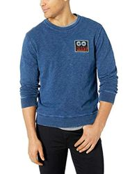 Lucky Brand Indigo Patch Crew Neck Sweatshirt - Blue