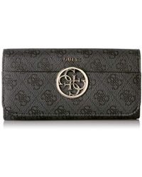 Guess - Kamryn Embroidered Large Flap Organizer, - Lyst