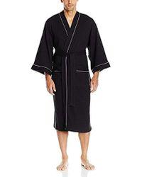 Izod - Nailhead Texture Knit Robe, - Lyst