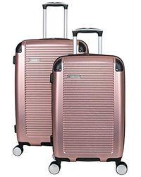 Ben Sherman Lightweight Hardside Pet Expandable 8-wheel Spinner Carry-on Suitcase - Pink
