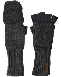 Timberland Pop Over Fingerless Gloves - Gray