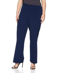 Anne Klein Size Plus Flare Leg Pant - Blue
