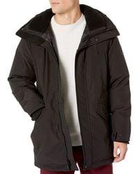 Vince Camuto Bomber Jacket With Faux-fur Trimmed Hood - Black