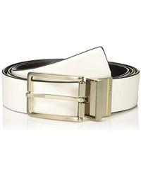Calvin Klein 35mm Reversible Smooth Leather To Self Belt - White