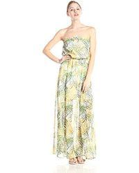 8462757c7a8 BB Dakota - Piper Cool Grass Crinkle Chiffon Maxi Dress - Lyst