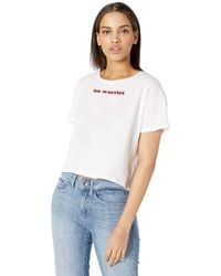 French Connection Short Sleeve Crew Neck Graphic T-shirt - White