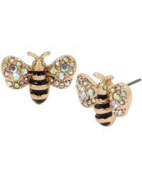 Betsey Johnson Bumble Bee Stud Earrings - Yellow