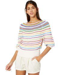 BCBGMAXAZRIA Bcbg Mixed Stitch Striped Sweater - Blue