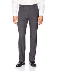 Franklin Tailored - Expandable Waist Classic-fit Dress Pants, -dark Grey, 30w X 28l - Lyst