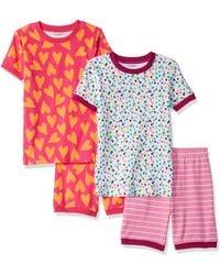 Amazon Essentials - Girl's 4-piece Sleeve Short Pajama Set - Lyst