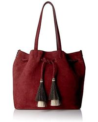 5538fab5af9e Loeffler Randall - Drawstring Tote (suede horse Hair) Top Handle Bag - Lyst