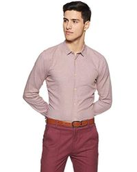 Scotch & Soda - Slim Fit Classic Shirt In Structured Weave - Lyst