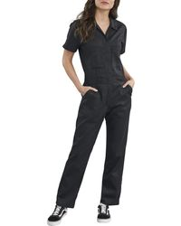 Dickies Short Sleeve Flex Coverall - Black