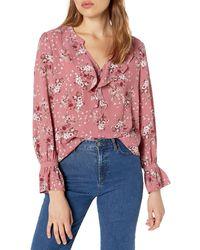 Kensie Charmed Bouquets Top - Pink