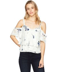 Lucky Brand Floral Cold Shoulder Top - Multicolor