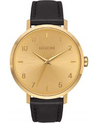 Nixon - Arrow Stainless Steel Japanese-quartz Watch With Leather-synthetic Strap - Lyst