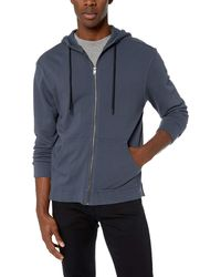 PAIGE Curtis Garment Dyed Hoodie - Blue